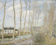 The Loing's Canal 1892 by Alfred Sisley Framed Print on Canvas