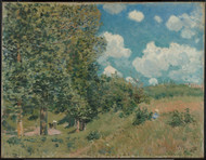 The Road from Versailles to Saint-Germain 1875 by Alfred Sisley Framed Print on Canvas