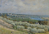 The Terrace at Saint-Germain, Spring 1875 by Alfred Sisley Framed Print on Canvas