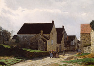 Women Going to the Woods 1866 by Alfred Sisley Framed Print on Canvas