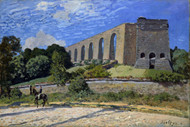 Aqueduct at Marly 1874 by Alfred Sisley Framed Print on Canvas