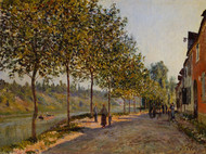 June Morning in Saint-Mammes 1884 by Alfred Sisley Framed Print on Canvas