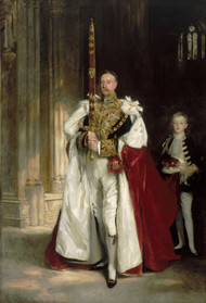 Charles Stewart, Sixth Marquess of Londonderry, Carrying the Great Sword of State at the Coronation of King Edward VII, August, 1902, and Mr. W. C. Beaumont, His Page on That Occasion by John Singer Sargent Framed Print on Canvas