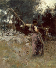 A Capriote 1878 by John Singer Sargent Framed Print on Canvas