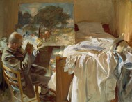 An Artist in His Studio 1904 by John Singer Sargent Framed Print on Canvas