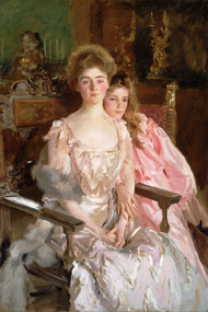 Mrs. Fiske Warren (Gretchen Osgood) and Her Daughter Rachel 1903 by John Singer Sargent Framed Print on Canvas