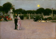 In the Luxembourg Gardens 1879 by John Singer Sargent Framed Print on Canvas