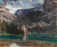 Lake O'Hara 1916 by John Singer Sargent Framed Print on Canvas
