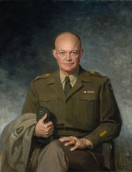 Dwight D. Eisenhower 1947 by Thomas Edgar Stephens Framed Print on Canvas