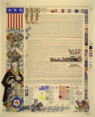 Declaration of Independence 1950 by Arthur Szyk Framed Print on Canvas
