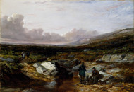 Deer Stalking in Scotland: Getting Ready 1851 by Arthur Fitzwilliam Tait Framed Print on Canvas