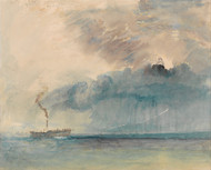 A Paddle-steamer in a Storm 1841 by Joseph Turner Framed Print on Canvas
