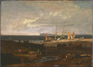 A Scene on the English Coast 1798 by Joseph Turner Framed Print on Canvas