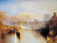 Ancient Rome; Agrippina Landing with the Ashes of Germanicus by Joseph Turner Framed Print on Canvas