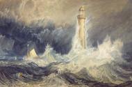 Bell Rock Lighthouse 1819 by Joseph Turner Framed Print on Canvas