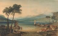 Lake Geneva and Mount Blanc 1802 by Joseph Turner Framed Print on Canvas