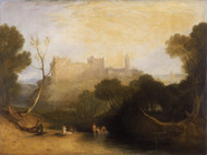 Linlithgow Palace 1806 by Joseph Turner Framed Print on Canvas