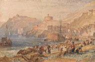 St. Mawes, Cornwall 1823 by Joseph Turner Framed Print on Canvas