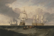 The Victory Returning from Trafalgar, in Three Positions 1806 by Joseph Turner Framed Print on Canvas
