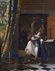 The Allegory of the Faith 1670 by Johannes Vermeer Framed Print on Canvas