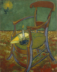 Gauguin's chair 1888 by Vincent van Gogh Framed Print on Canvas