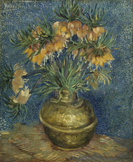 Imperial Fritillaries in a Copper Vase 1887 by Vincent van Gogh Framed Print on Canvas