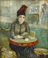 In the cafe: Agostina Segatori in Le tambourin 1887 by Vincent van Gogh Framed Print on Canvas