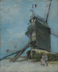 Le Moulin de la Galette 1887 by Vincent van Gogh Framed Print on Canvas