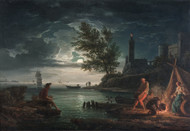 The four times of day: Night 1757 by Claude Joseph Vernet Framed Print on Canvas