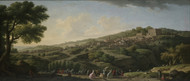 Villa at Caprarola 1746 by Claude Joseph Vernet Framed Print on Canvas