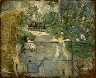 The Basket Chair 1882 by Berthe Morisot Framed Print on Canvas
