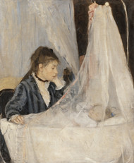 The Cradle 1872 by Berthe Morisot Framed Print on Canvas