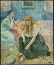 Two Girls 1894 by Berthe Morisot Framed Print on Canvas