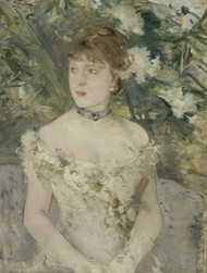 Young Girl in a Ball Gown 1879 by Berthe Morisot Framed Print on Canvas