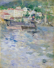 The Port of Nice by Berthe Morisot Framed Print on Canvas