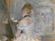 Woman at Her Toilette 1875 by Berthe Morisot Framed Print on Canvas