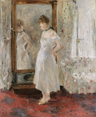 The Cheval Glass 1876 by Berthe Morisot Framed Print on Canvas