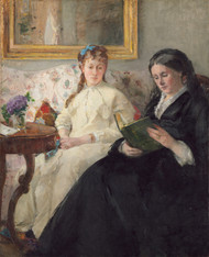 Mother and Sister of the Artist 1870 by Berthe Morisot Framed Print on Canvas