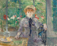 After lunch 1881 by Berthe Morisot Framed Print on Canvas