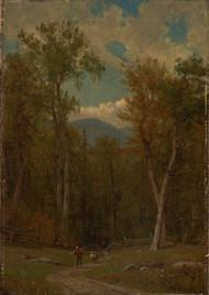 Landscape 1886 by Worthington Whittredge Framed Print on Canvas