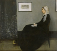 Arrangement in Grey and Black No. 1 Whistlers Mother 1871 by James Abbott McNeill Whistler Framed Print on Canvas