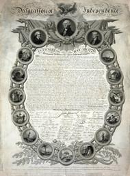 Declaration of Independence 1776  Framed Print on Canvas