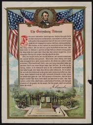 Lincolns Gettysburg Address  Framed Print on Canvas