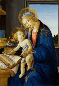 The Virgin and Child The Madonna of the Book 1480 by Sandro Botticelli Framed Print on Canvas