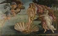 The Birth of Venus 1485 by Sandro Botticelli Framed Print on Canvas