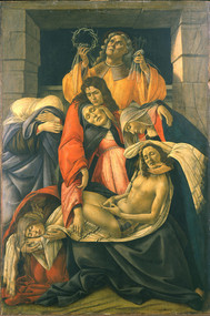 The Lamentation over the Dead Christ by Sandro Botticelli Framed Print on Canvas