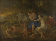 Cephalus and Aurora 1630 by Nicolas Poussin Framed Print on Canvas