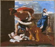 Massacre of the Innocents by Nicolas Poussin Framed Print on Canvas