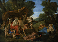 Mars and Venus 1630 by Nicolas Poussin Framed Print on Canvas