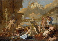 The Empire of Flora 1631 by Nicolas Poussin Framed Print on Canvas